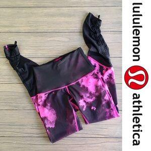 NWOT Lululemon Hi-Waist Pink & Black Leggings